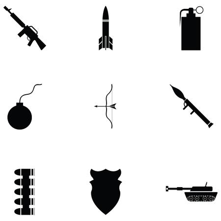 War icon set illustration on white background. Illustration