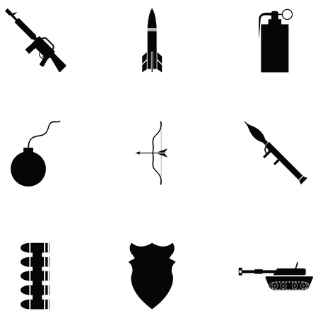War icon set illustration on white background. Illustration