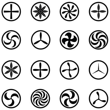 conjunto de iconos de turbina