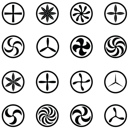 turbine icon set 向量圖像