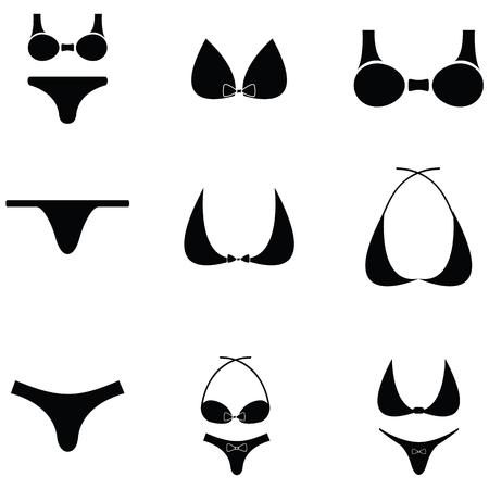 bikini icon set