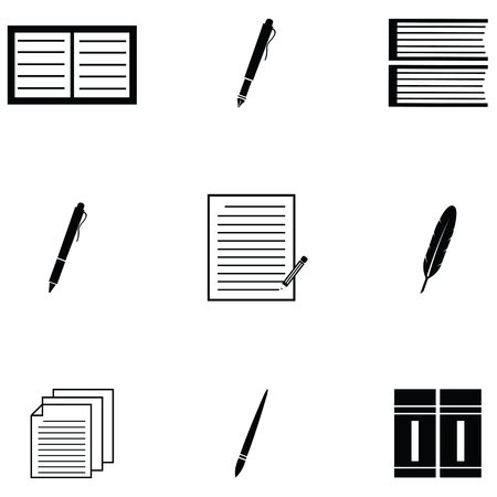 writer icon set