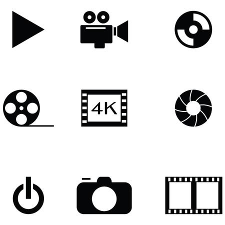 video icon set  イラスト・ベクター素材