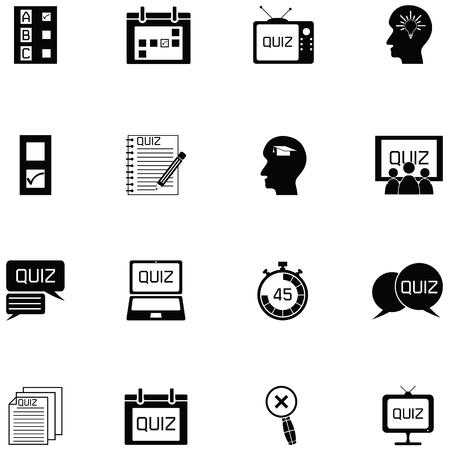 quiz icon set