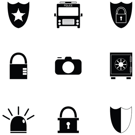 security icon set Ilustração