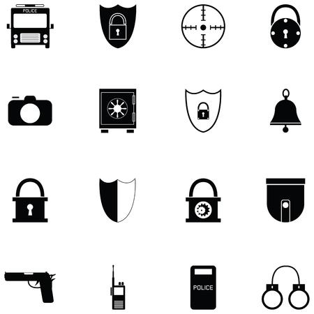 security icon set Illusztráció