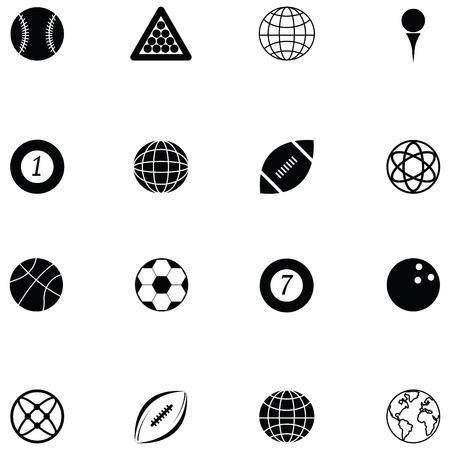 ball icon set Illustration