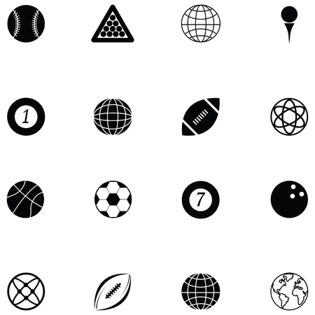 ball icon set 向量圖像