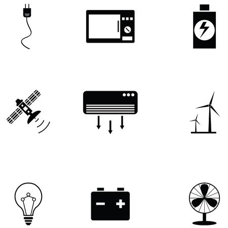 electric icon set Standard-Bild - 121826497