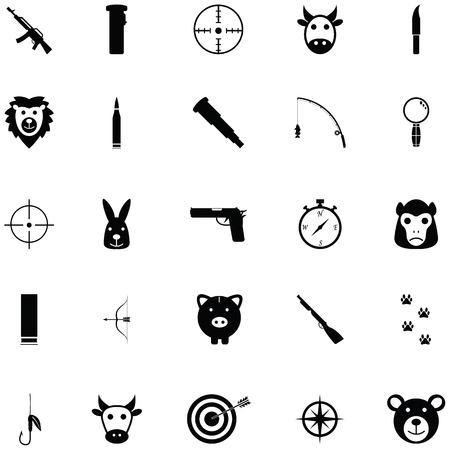 hunting icon set