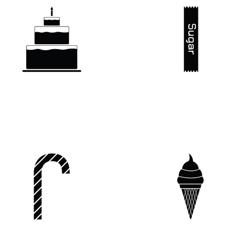 sweets icon set