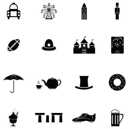 uk icon set  イラスト・ベクター素材