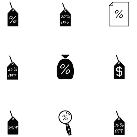 percent icon set
