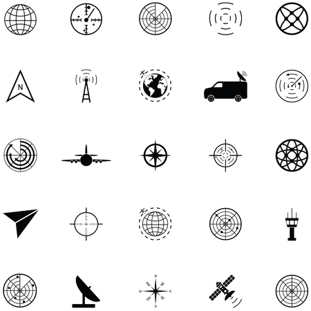 Radar icon set