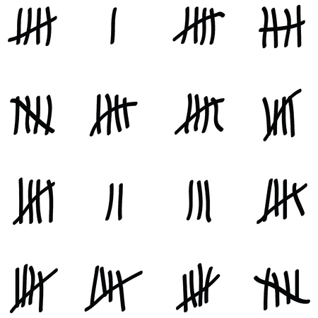 Tally marks icon set