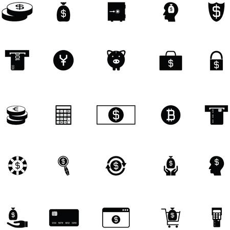 money icon set Ilustração