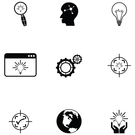 knowledge icon set Иллюстрация