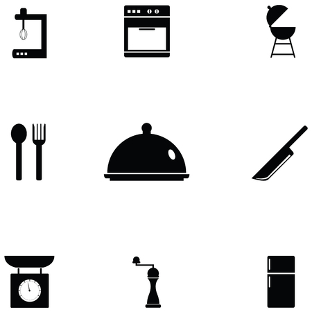 kitchen icon set Фото со стока - 124991535