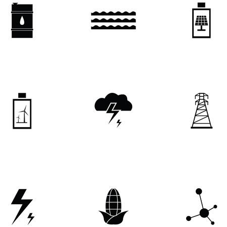 energy icon set Standard-Bild - 124991543