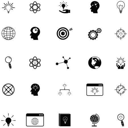 knowledge icon set Ilustracja