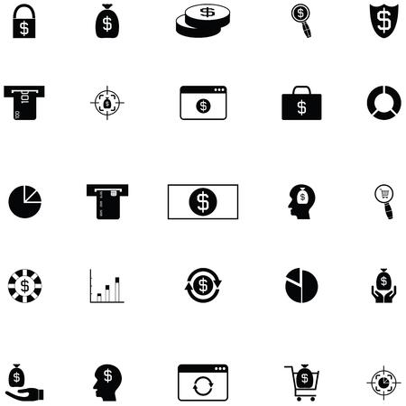 economy icon set Banco de Imagens - 124991547