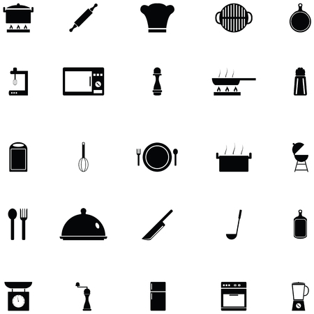 kitchen icon set Standard-Bild - 124991549