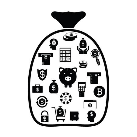 bag with money idea concept