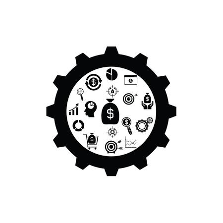 gear finance concept Illustration