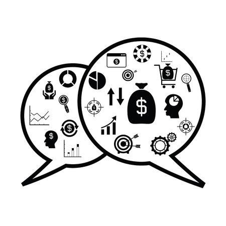 Speech money concept Illustration