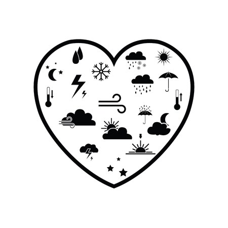 heart weather concept Illustration