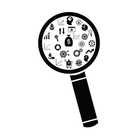 search finance concept
