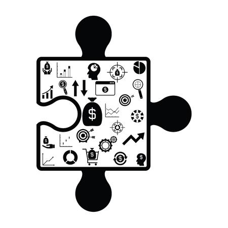 puzzle finance concept