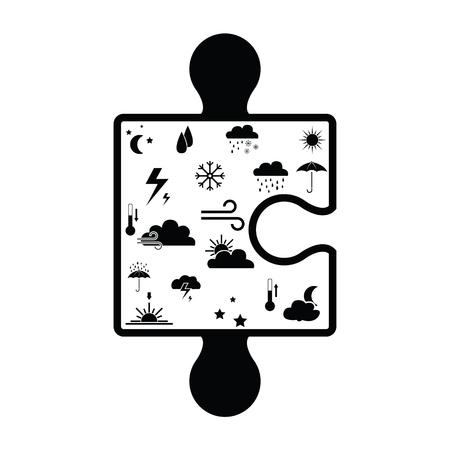 puzzle weather concept