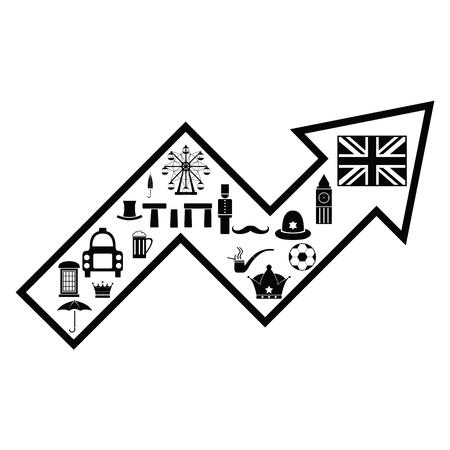 arrow england concept