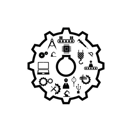 gear engineering concept Ilustração