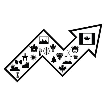 arrow canada concept Illustration