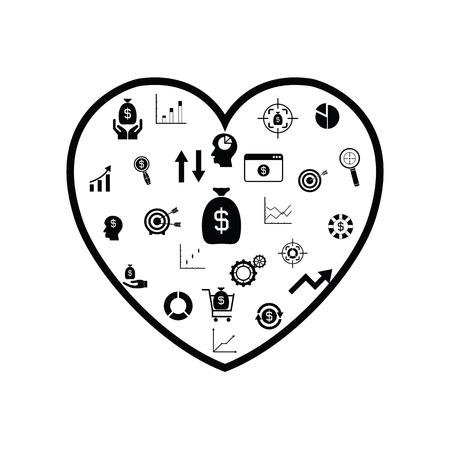 heart finance concept