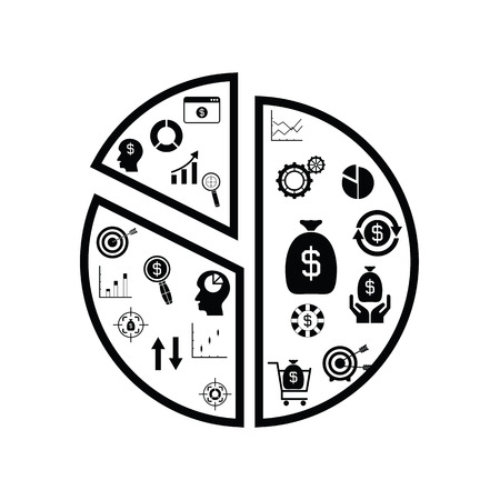 graph finance concept