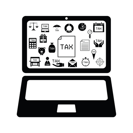 computer tax concept