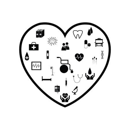 heart health concept Ilustração