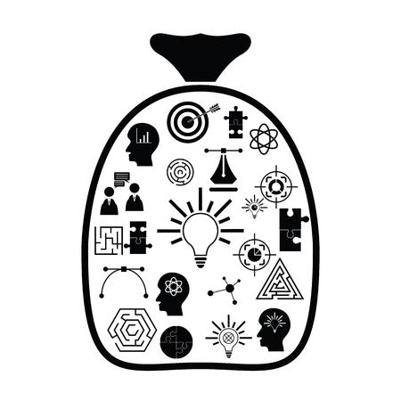 bag idea concept Ilustração