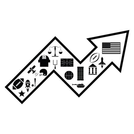 arrow american concept Ilustração
