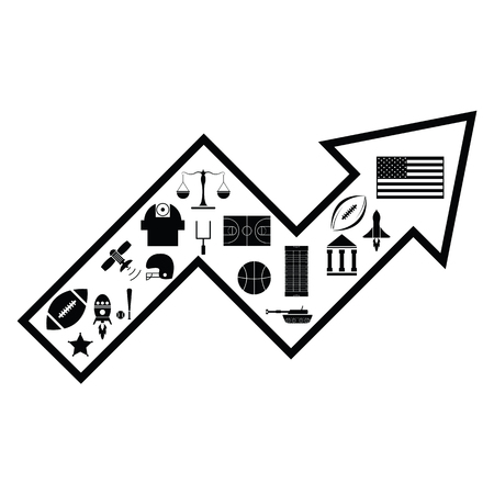 arrow american concept Иллюстрация