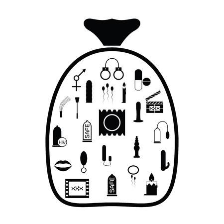 bag with sextoy idea concept