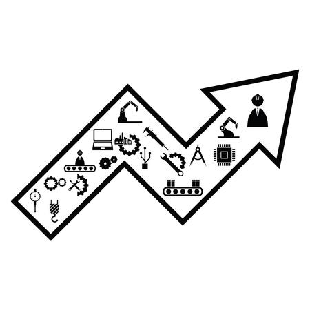 arrow engineering concept Ilustração