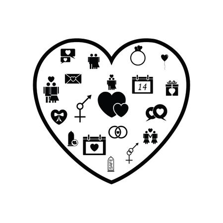 heart love concept Ilustração