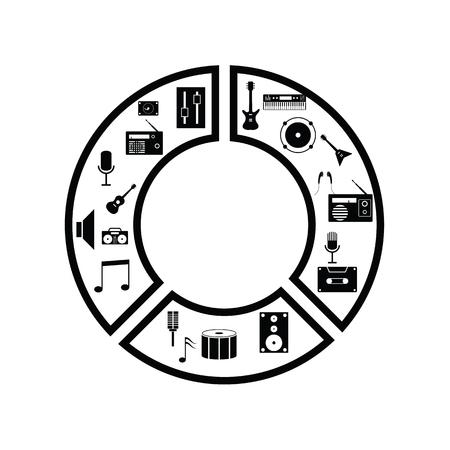 graph music concept Ilustração