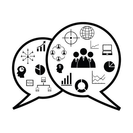 Speech business concept Ilustração
