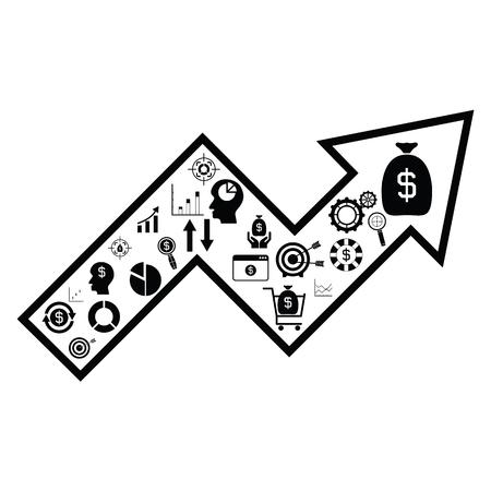 arrow money concept