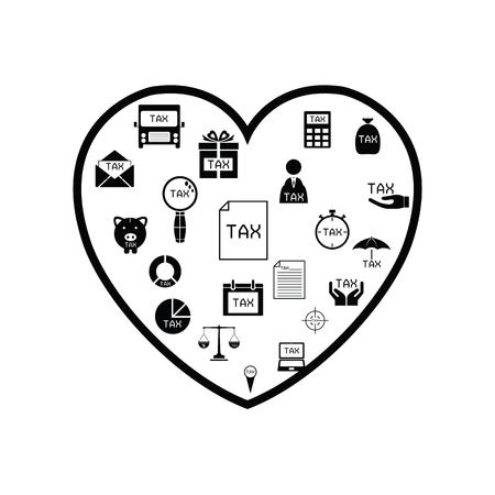 heart tax concept Ilustração